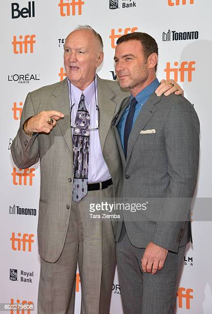 Boxer Chuck Wepner and actor Liev Schreiber attend 'The Bleeder' premiere during the 2016 Toronto International Film Festival at Princess of Wales...