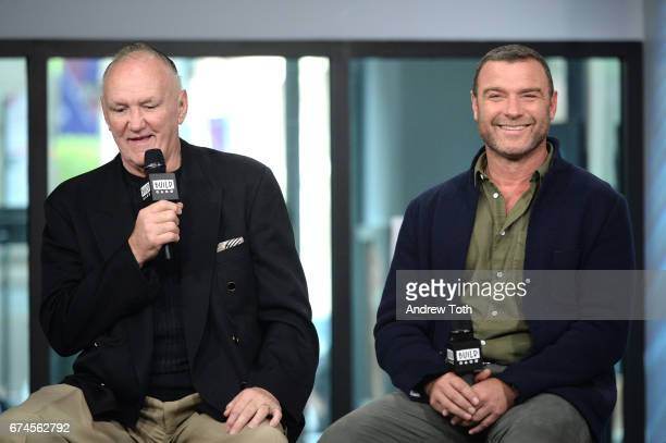 "Boxer Chuck Wepner and Liev Schreiber attend the Build Series to discuss the film ""Chuck"" at Build Studio on April 28, 2017 in New York City."