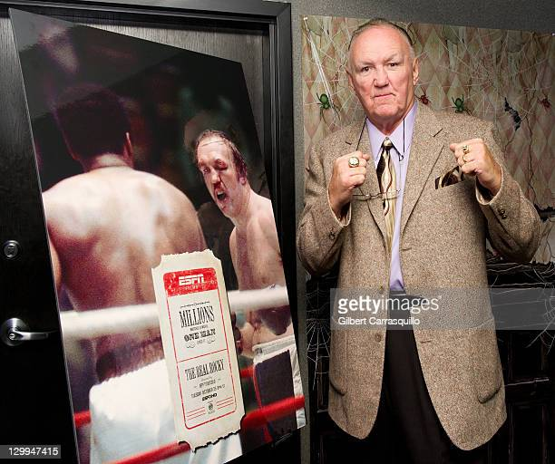 Boxer Chuck Wepner attends the The Real Rocky screening during the 20th Philadelphia Film Festival at the Ritz East Theater on October 21 2011 in...