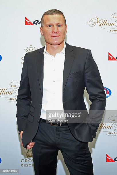 Boxer Danny Green arrives ahead of the Children's Cancer Foundation's annual fundraiser the Million Dollar Lunch at Crown Palladium on August 7 2015...