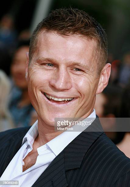 Boxer Danny Green arrives at the Foxtel Is Football Foxtel and FFA hosted party in honour of David Beckham at Cafe Sydney on November 26 2007 in...