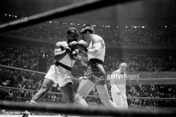 Boxer Eddie Crook Jr. And Polish boxer Tadeusz Walasek fight in their final middleweight boxing match of the 1960 Rome Olympic Games on September 5,...