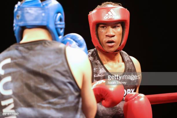 Boxer Favio Monico Galo VS boxer Joshua Fraser at the Victory Charity Ball at CBC Toronto on June 1 2017 in Toronto Canada