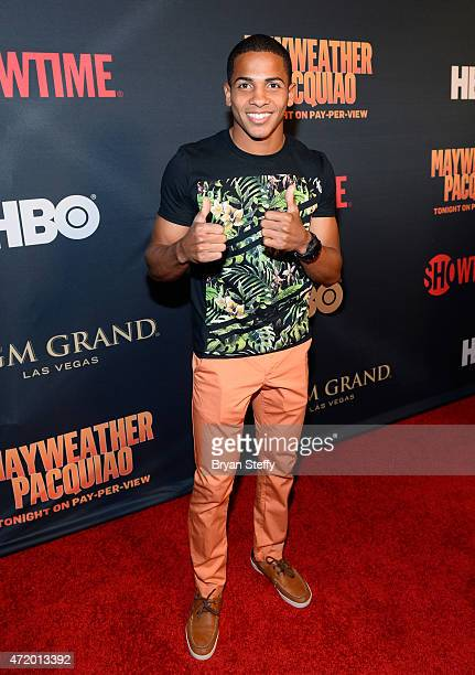 """Boxer Felix Verdejo attends the SHOWTIME And HBO VIP Pre-Fight Party for """"Mayweather VS Pacquiao"""" at MGM Grand Hotel & Casino on May 2, 2015 in Las..."""