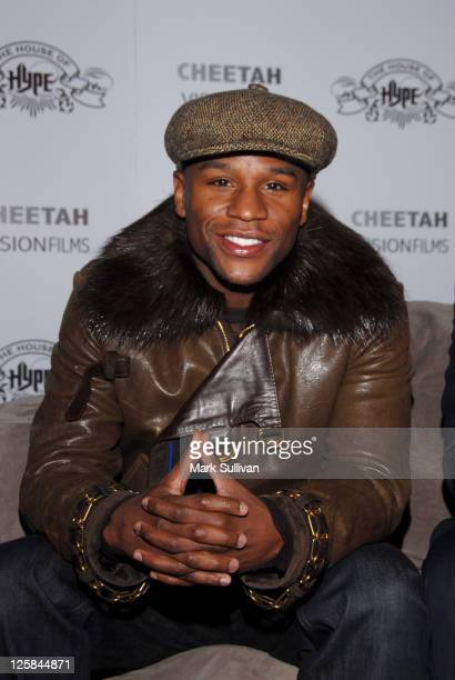 Boxer Floyd Mayweather Jr attends Baileys Warming Hut at House of Hype LIVEstyle Lounge on January 22 2011 in Park City Utah