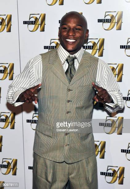 Boxer Floyd 'Money' Mayweather Jr arrives at Studio 54 inside the MGM Grand Hotel/Casino on September 19 2009 in Las Vegas Nevada
