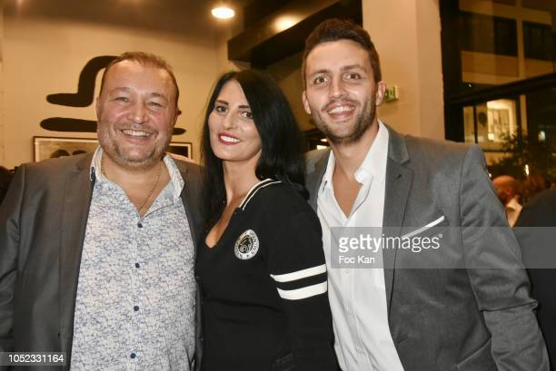 Boxer Franck Tiozzo Sylvie Ortega Munos and karateka Mickael Serfati attend the 'Champion Spirit' Rive Gauche Launch Party at Beaupassage 14 Bd...