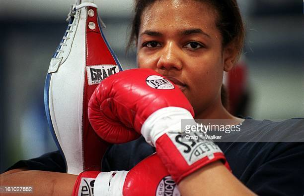 Boxer Freeda Foreman daughter of former heaveyweight champion George Foreman poses for a portrait at America Presents Gym in Denver