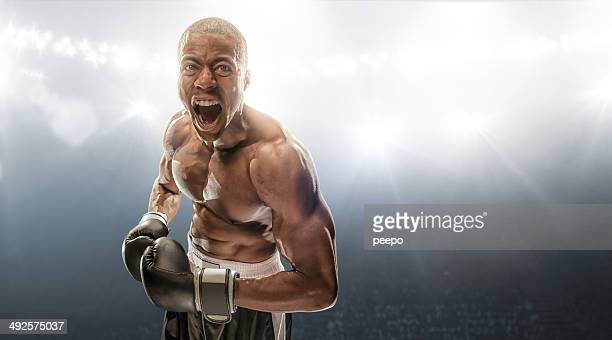 boxer getting ready - mixed martial arts stockfoto's en -beelden