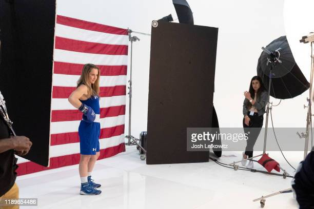 Boxer Ginny Fuchs poses during the Team USA Tokyo 2020 Olympic shoot on November 23 2019 in West Hollywood California