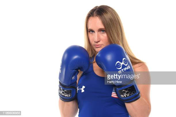 Boxer Ginny Fuchs poses for a portrait during the Team USA Tokyo 2020 Olympic shoot on November 23 2019 in West Hollywood California