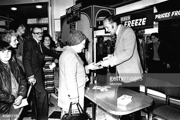 Boxer Henry Cooper visited British Home Stores in Newcastle on 22nd October 1980 to sign autographs and promote Brut aftershave