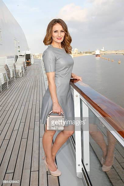 Boxer Ina Menzer attends the Fashion2Night event at EUROPA 2 on August 23 2016 in Hamburg Germany