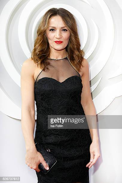 Boxer Ina Menzer attends the Rosenball 2016 on April 30 2016 in Berlin Germany