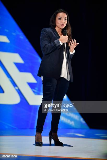 Boxer Inside CEO Sarah Ourahmoune attends the third edition of Bpifrance INNO generation at AccorHotels Arena on October 12 2017 in Paris France This...