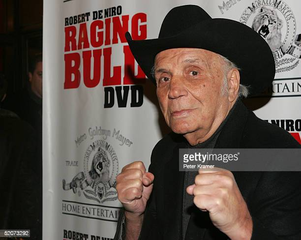 Boxer Jake LaMotta attends a special screening of Raging Bull to celebrate it's 25th anniversary and DVD release on January 27 2005 in New York City