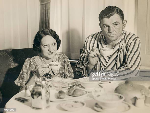 Boxer James Braddock at home with his wife
