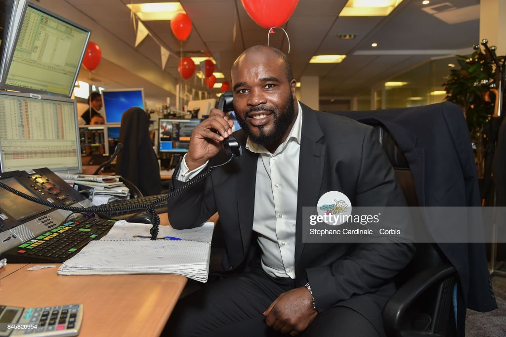 Boxer Jean Marc Mormeck attends the Aurel BGC Charity Benefit Day 2017 on September 11, 2017 in Paris, France.