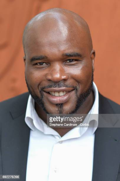Boxer JeanMarc Mormeck attends the 2017 French Tennis Open Day Height at Roland Garros on June 4 2017 in Paris France