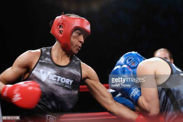 Boxer Joshua Frazer VS boxer Favio Monico Galo at the Victory Charity Ball at CBC Toronto on June 1 2017 in Toronto Canada