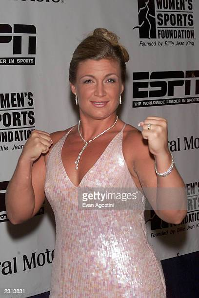 Boxer Kathy Collins honored at the Women's Sports Foundation Annual Gala at the WaldorfAstoria Hotel in New York City Photo Evan Agostini/Getty Images