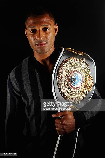 Boxer Kell 'Special K' Brook poses after the Frank Warren Press Conference at the Grosvenor House Marriott Hotel Park Lane on October 14 2010 in...