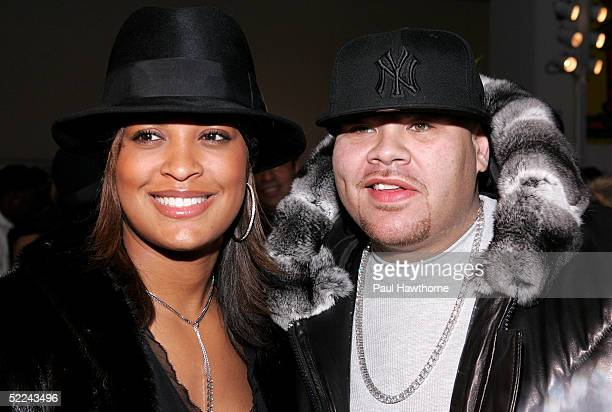 Boxer Laila Ali and rapper Fat Joe attend the 35th anniversary of the Addidas superstar sneaker honoring the life of Jam Master Jay at Skylight...