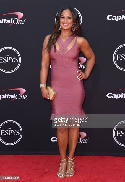 Boxer Laila Ali arrives at the 2017 ESPYS at Microsoft Theater on July 12 2017 in Los Angeles California