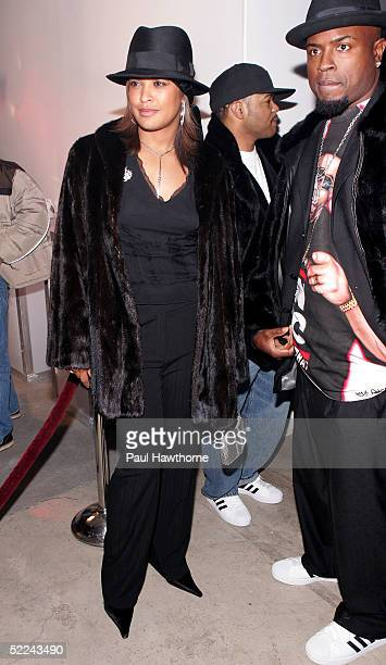 Boxer Laila Ali attends the 35th anniversary of the Addidas superstar sneaker honoring the life of Jam Master Jay at Skylight Studios on February 25...