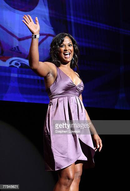 Boxer Laila Ali during the Women's Sports Foundation's 28th Annual Salute to Women in Sports at the WaldorfAstoria Hotel on October 15 2007 in New...