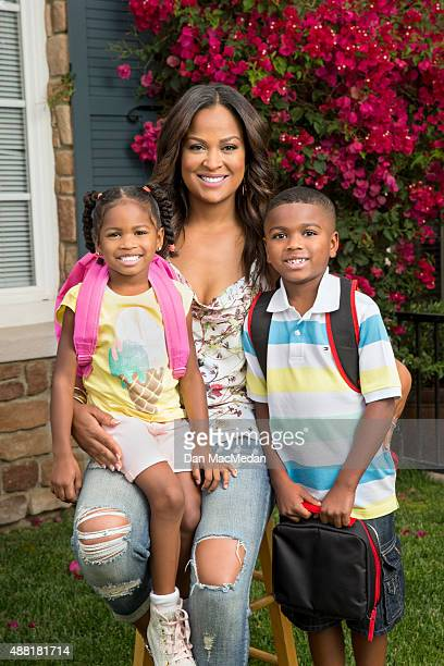 Boxer Laila Ali is photographed for USA Today's Back to School Magazine on May 8 2015 in Calabasas California COVER IMAGE