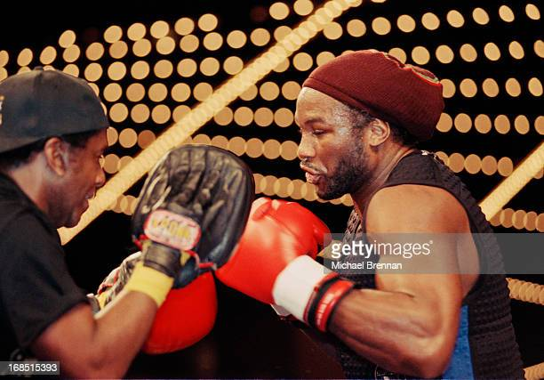 Boxer Lennox Lewis training at Madison Square Garden for his upcoming fight with Michael Grant New York City 28th April 2000