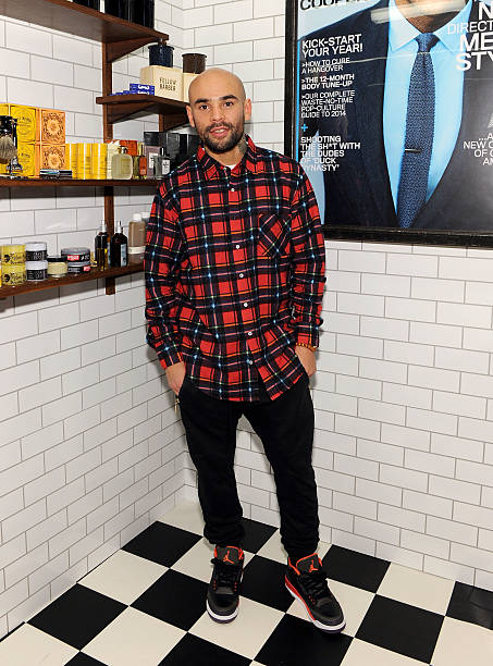 Luis Collazo at GQ Barber Shop Opening