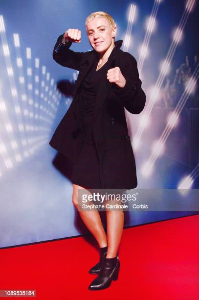 Boxer Maiva Hamadouche attends Creed II Party at Centre Emile Anthoine on January 03, 2019 in Paris, France.