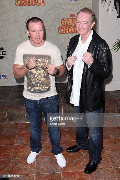 Boxer Micky Ward and Dicky Eklund poses at Spike TV's 5th Annual 2011 Guys Choice Awards at Sony Pictures Studios on June 4 2011 in Culver City...