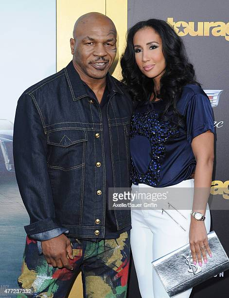 Boxer Mike Tyson and Lakiha Spicer arrive at the Los Angeles premiere of 'Entourage' at Regency Village Theatre on June 1, 2015 in Westwood,...