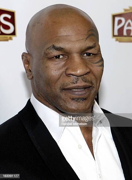 Boxer Mike Tyson attends the Los Angeles Premiere of Mike Tyson Undisputed Truth at the Pantages Theatre on March 8 2013 in Hollywood California