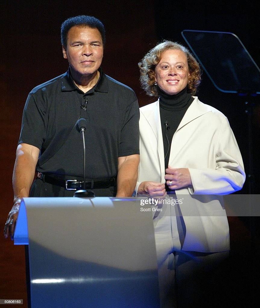 Boxer Muhammad Ali and wife Lonnie attend the MTV Networks UpFront at The Theater at Madison Square Garden May 05, 2004 in New York City.