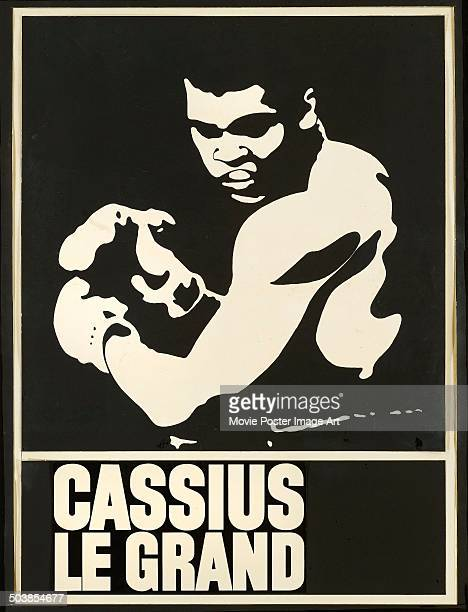 Boxer Muhammad Ali on the poster for the French documentary short 'Cassius le grand', 1964.