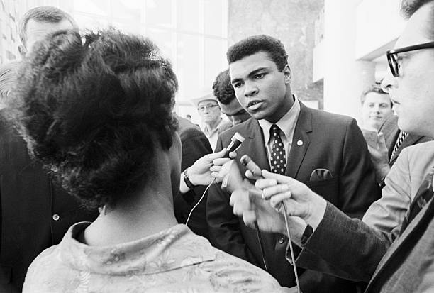 Boxer Muhammad Ali Meeting With Press