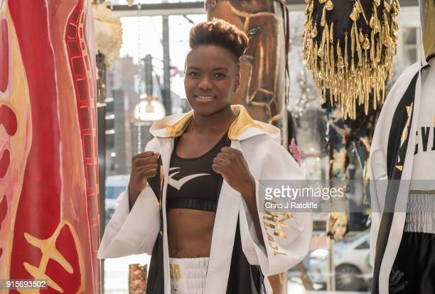 Boxer Nicola Adams launches her first clothing line at Selfridges on February 8 2018 in London England Nicola Adams OBE has partnered with Everlast...