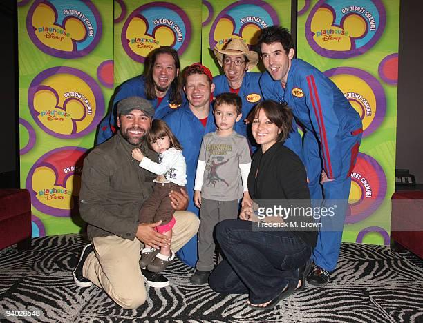 Boxer Oscar de la Hoya Nina de la Hoya Scott Durbin David Poche Scott Smith Oscar de la Hoya Jr Millie Corretjer and Rich Collins with Disney's...