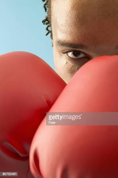 Boxer Posing With Intimidating Gaze
