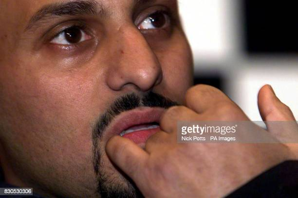 Boxer Prince Naseem Hamed at The Four Seasons Hotel, London announcing the date of his next fight. Hamed will meet Mexican Marco Antonio Barrera at...