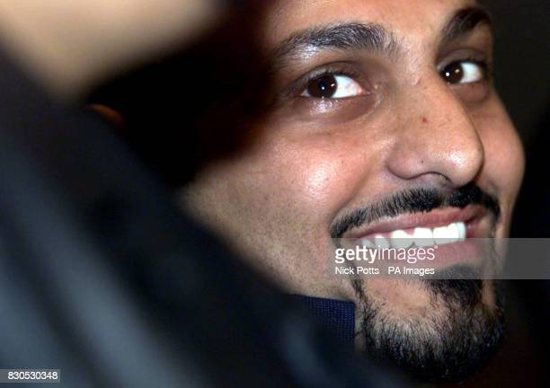 Boxer Prince Naseem Hamed at The Four Seasons Hotel London announcing the date of his next fight Hamed will meet Mexican Marco Antonio Barrera at the...