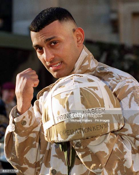 Boxer Prince Naseem Hamed in London's Covent Garden, to support a marketing campaign specifically to bring the Army face to face with young men and...
