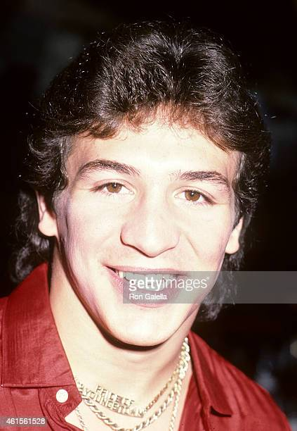 Boxer Ray Mancini attends Ray Mancini's 23rd Birthday Party Hosted by Penthouse Pet Sheila Kennedy on March 8 1984 at the Nirvana Club in New York...