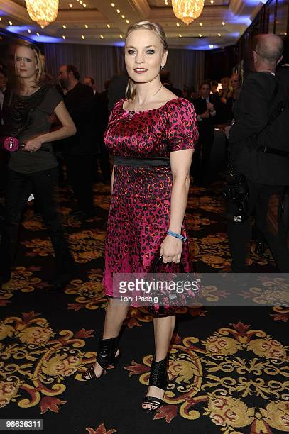 Boxer Regina Halmich attends the Movie Meets Media at Ritz Carlton Curtain Club on February 12 2010 in Berlin Germany