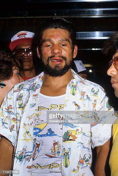 Boxer Roberto Duran after his loss to Robbie Sims on June 23 1986 in Caesars Palace Las Vegas Nevada