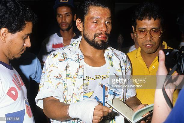 Boxer Roberto Duran on June 23 1986 in Caesars Palace Las Vegas Nevada